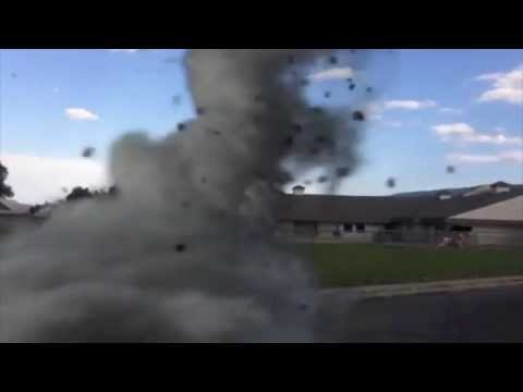 Tornado passing through school