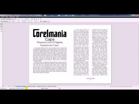 Criando um Livro de 4 Páginas no Corel Draw X6