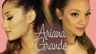 Ariana Grande Hair and Makeup Tutorial With NikiAndGabiBeauty