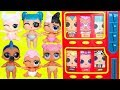 LOL Surprise Vending Machine with Lost Dolls + Lil Sisters Mix Wrong Heads for New Look Series 4