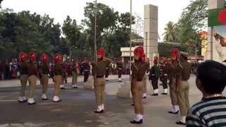 Bangladesh - India Border Pared by BGB and BSF