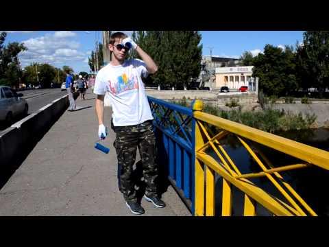Краматорск   Kramatorsk 30 08 2014   lingua russa   fa il referendum se vuole Ucraina o Russia