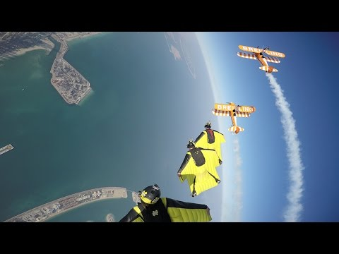 Skydive Dubai and Breitling take to the skies over Dubai