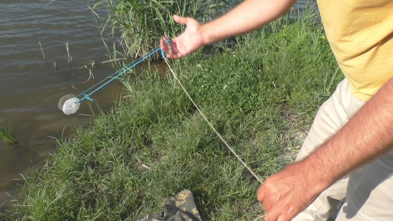 Кормушка для карпа в пруду своими руками видео