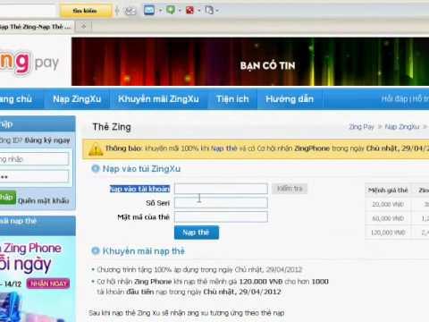 Huong Dan Nap Zing Xu Bang The Zing video