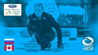 Russia v Canada  - Round-robin - Ford World Women's Curling Championships 2018