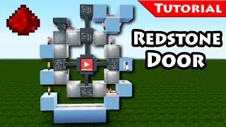 Minecraft: Easy, unique 3x3 redstone door tutorial/ for modern houses / How to make / 1.8