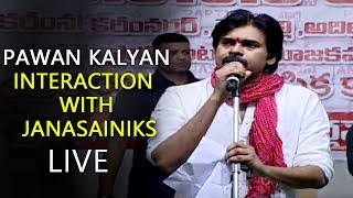 JanaSena Chief Pawan Kalyan interaction with JanaSainiks Live - Shubham Gardens, Karimnagar