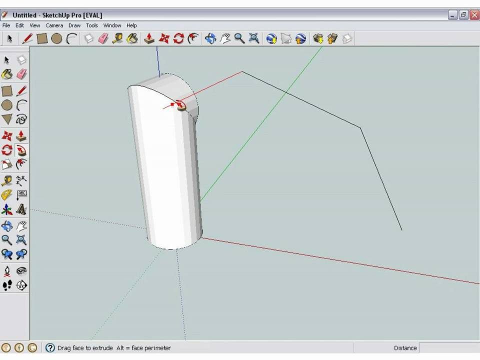 how to make a pipe in google sketchup youtube. Black Bedroom Furniture Sets. Home Design Ideas