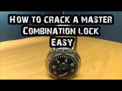 How To Crack a Master Lock- Combination Lock- EASY   🔴