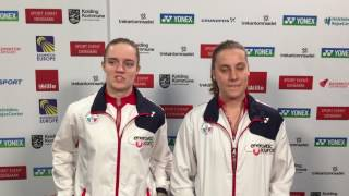 European Championships 2017: Silvia Garino e Lisa Iversen agli ottavi