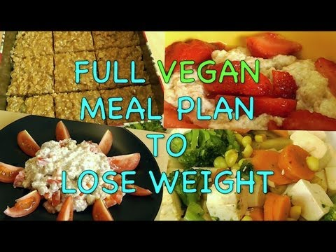 Full VEGAN Meal Plan to Lose Weight
