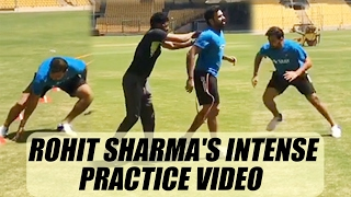 Rohit Sharma  practices after surgery: Watch video|Oneindia News