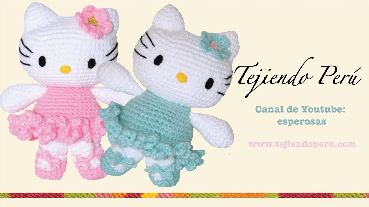 Amigurumi Hello Kitty Patrones : Hello Kitty tejida a crochet (amigurumi) Parte 6: flor de ...