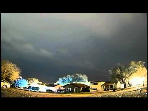 November 11, 2014 night cold front passage in Yukon, OK