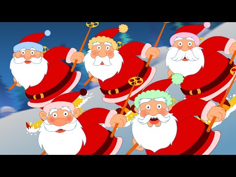 Five Fat Santas | Five Little Santas Nursery Rhymes | Cartoon Videos For Toddlers by Kids Tv