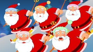 Five Fat Santas | Five Little Santas | Nursery Rhymes