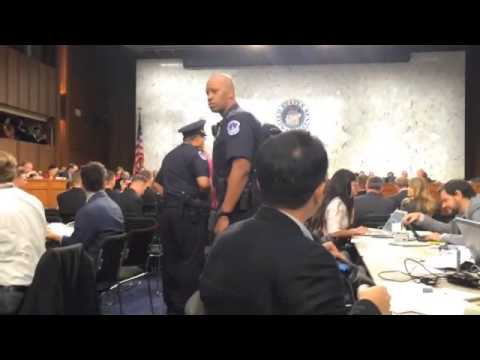 CODEPINK protests at Senate hearing on U.S. strategy to fight ISIL