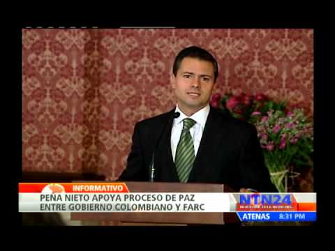 Enrique Peña Nieto llega a Colombia y expresa su apoyo al proceso de paz