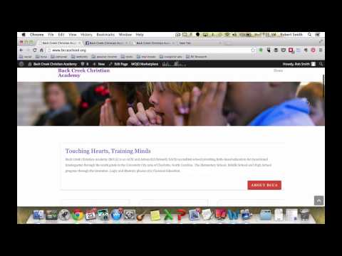 Introduction to the Back Creek Christian Academy Website