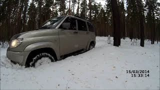 УАЗ Патриот сток - cнежный тест Cordiant Off Road 265 70 R16