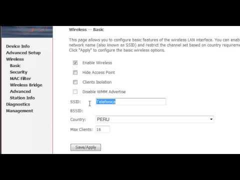 Cómo Configurar WiFi en módem router Comtrend CT5367 con Movistar Perú