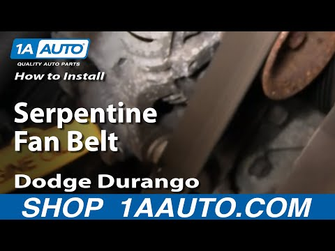 How To Install Replace Serpentine Fan Belt Dodge Dakota Durango 92-03 1AAuto.com