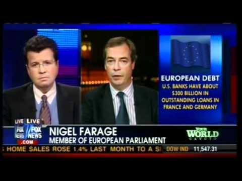 UKIP Nigel Farage on FOX News discussing Italy & Greece EU puppet government- November 2011