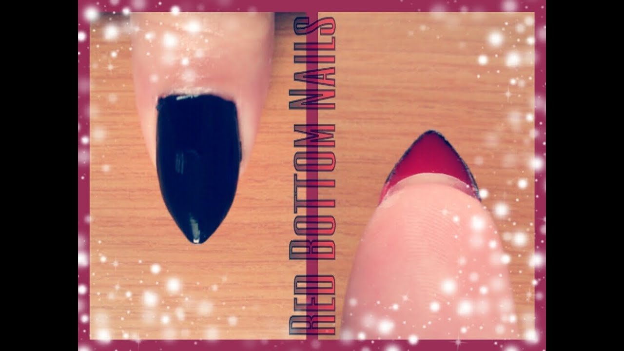 Red Bottoms Stiletto Nails