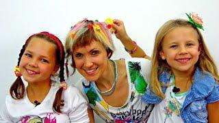 Игры для девочек. ПАРИКМАХЕРСКАЯ - Покраска волос. Маша, Ксюша и Мелки для волос