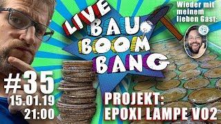 """Der """"EPOXI Horror geht weiter° 😃 Die zweite Runde! Eine Hammer Lampe aus Epoxi und Holzchips!"""