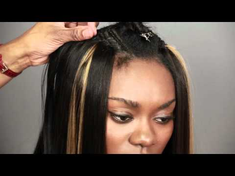 """""""Paris Swing Bob"""" How To Weave Human Hair Extensions With Trendy Swing Bob Haircut"""