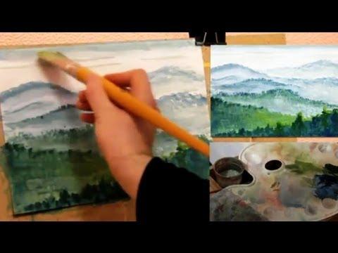 Уроки рисования пейзажа - видео