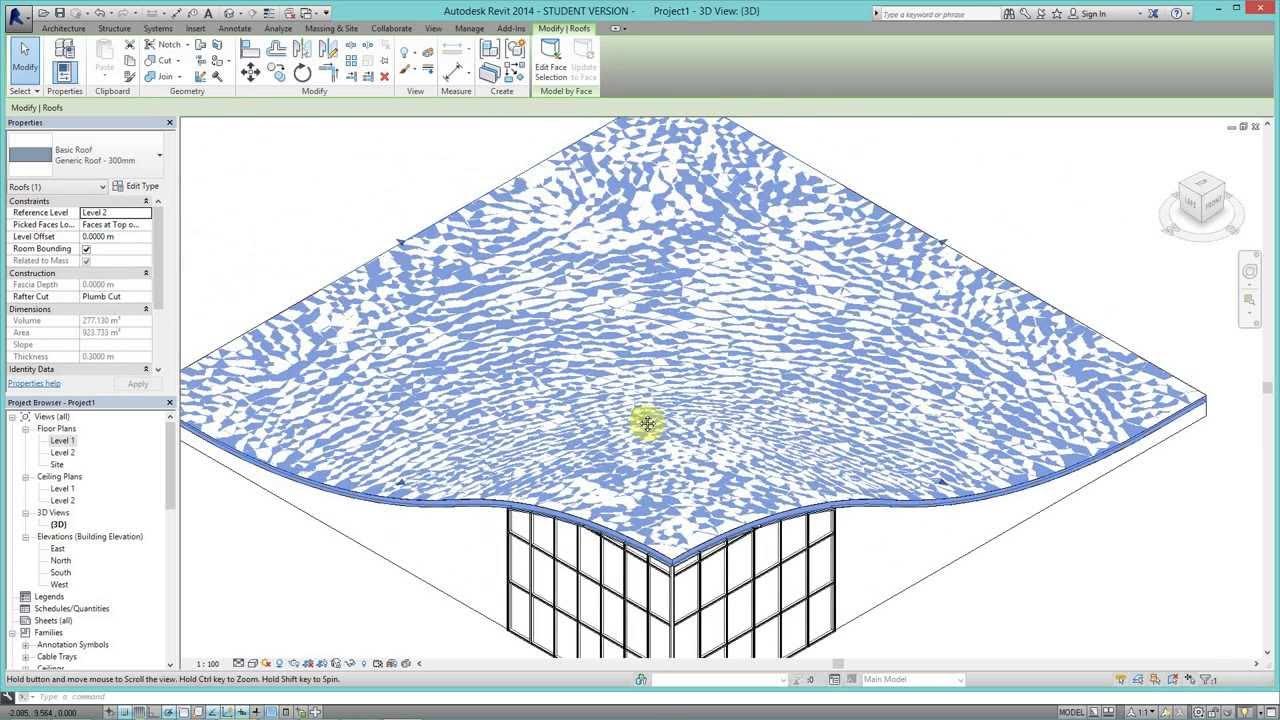 Crea techos org nicos en revit a partir de superficies de for Modelos de techos para galerias