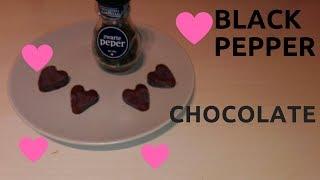 home made recipe  Black pepper chocolate yummy recipe