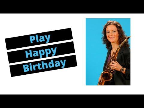 Happy Birthday - Alto Sax