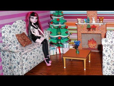Como fazer um sofá #2 para boneca Monster High. Pullip. Barbie e etc