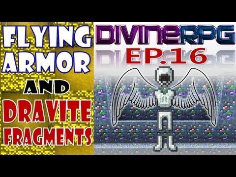 Armadura Voadora e Fragmentos de Dravite ~ Minecraft Divine RPG # 16 (Pasta .Minecraft 1.4.7)