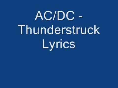ACϟDC - Thunderstruck (Lyrics)