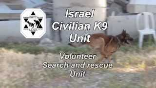 Israel Civilian K9 Unit - Volunteer Search And Rescue Dogs