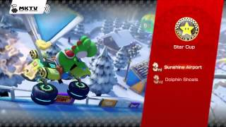 Mario Kart 8 Gameplay - Mirror Star Cup - Award Ceremony - 150cc