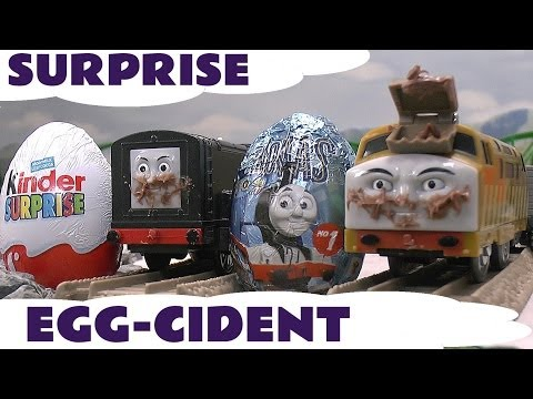 Surprise Eggs Thomas And Friends Kinder Surprise Egg Toys Crash Accidents Happen To Diesel 10