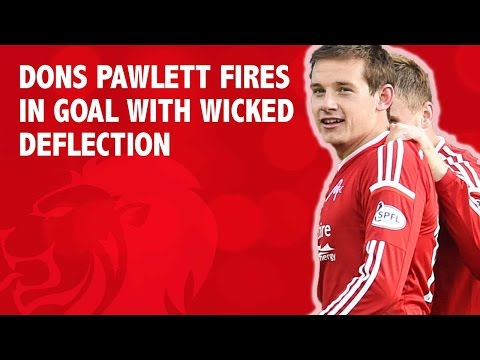 Pawlett fires in with the aid of a wicked deflection