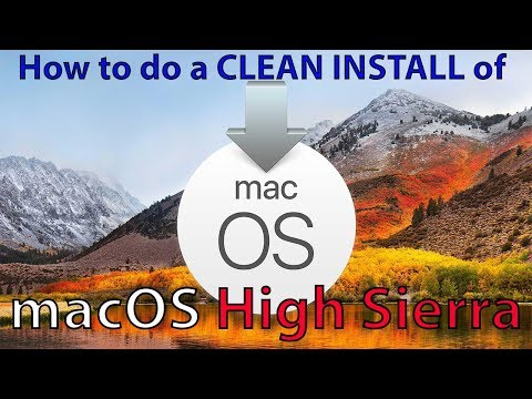 HOW TO CLEAN INSTALL macOS High Sierra - With A BOOTABLE FLASH DRIVE