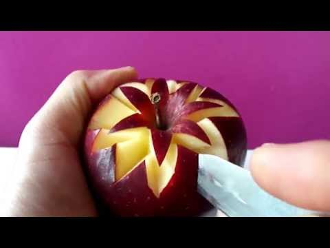 Art In Apples Show - Fruit Carving Apple Secret Lucky Star ★ Garnish ★