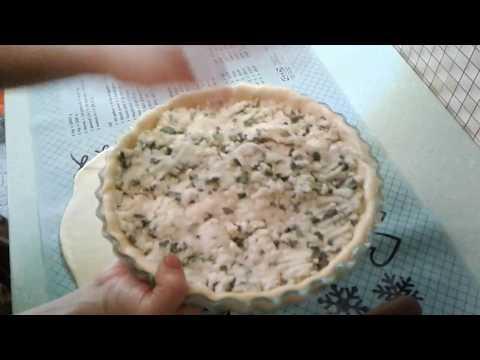 пирог с картошкой,брынзой и луком