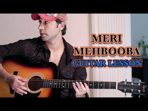 MERI MEHBOOBA- Pardes - LEAD GUITAR LESSON For BEGINNERS BY VEER KUMAR