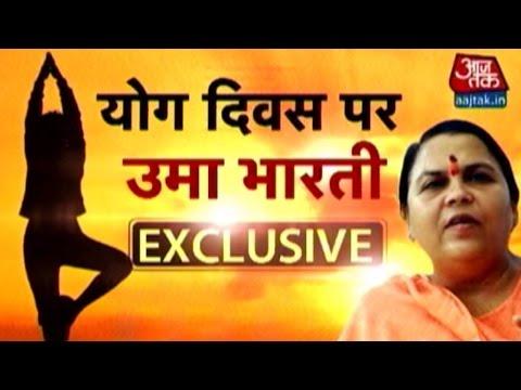 Uma Bharti On International Yoga Day