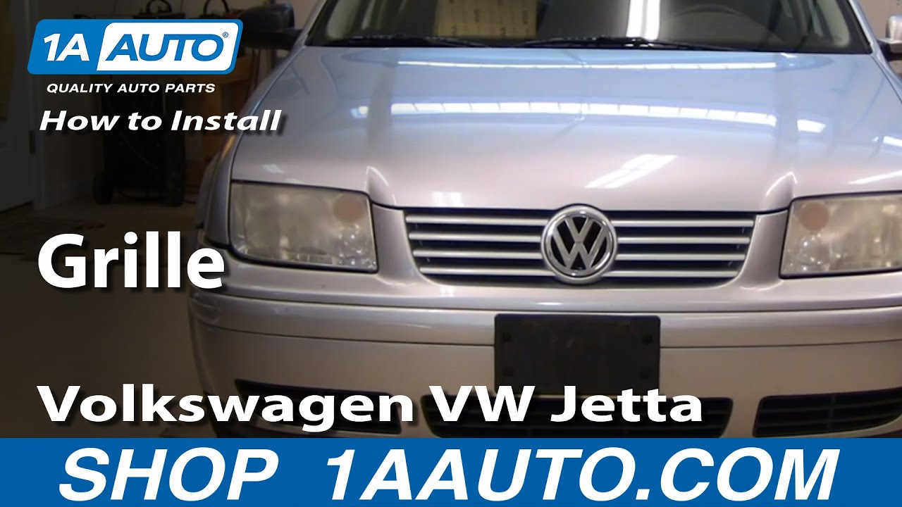 install replace grille volkswagen vw jetta   aautocom youtube