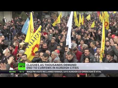 Kurdish Crackdown: Thousands protest against Turkey curfews
